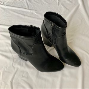 "Franco Sarto Black Heeled ""Francie"" Boots"